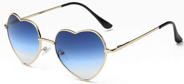 So Kawaii Shop azure Oversized Heart Sunglasses FREE SHIPPING! 20139639-c5