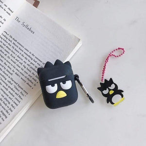 So Kawaii Shop Bad Badtz Maru w Pendant For AirPods Case Cute Cinnamoroll Melody Kuromi Purin Frog Earphone Cases For Apple Airpods Protect Cover with Cartoon Pendant 26675363-penguin-pendant