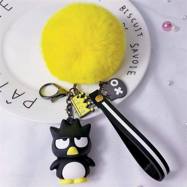 So Kawaii Shop Badtz Maru Yellow Pom Kawaii Sanrio Pom Pom Charmy Keychain 30755825-zz-11