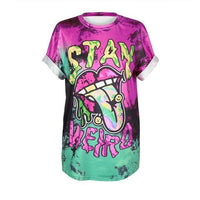 So Kawaii Shop BAM001 / S So Kawaii Pastel Goth & Punk Alien Tees 22789541-bam001-s