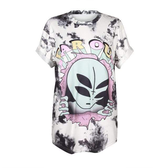 So Kawaii Shop BAM002 / S So Kawaii Pastel Goth & Punk Alien Tees 22789541-bam002-s