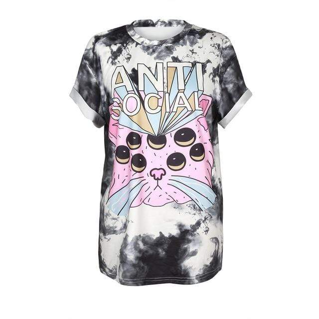 So Kawaii Shop BAM004 / S So Kawaii Pastel Goth & Punk Alien Tees 22789541-bam004-s