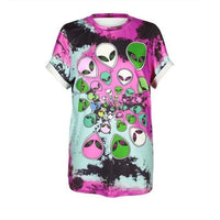 So Kawaii Shop BAM006 / S So Kawaii Pastel Goth & Punk Alien Tees 22789541-bam006-s