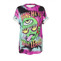 So Kawaii Shop BAM007 / S So Kawaii Pastel Goth & Punk Alien Tees 22789541-bam007-s
