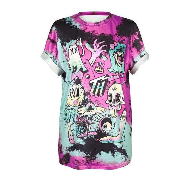 So Kawaii Shop BAM011 / S So Kawaii Pastel Goth & Punk Alien Tees 22789541-bam011-s