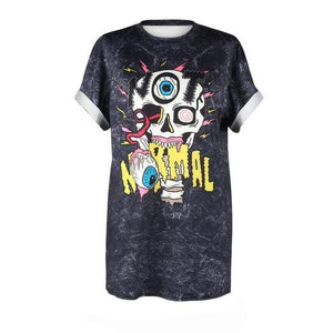 So Kawaii Shop BAM018 / S So Kawaii Pastel Goth & Punk Alien Tees 22789541-bam018-s