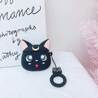 So Kawaii Shop Black Cat Kawaii Sailor Moon/Luna Cat Cases For Apple Airpods 28067909-black-cat