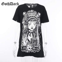 So Kawaii Shop black / L Goth Geisha Print T-shirt 25858373-black-l