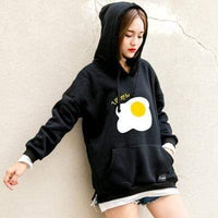 So Kawaii Shop black / M Kawaii Fried Egg Hoodie Sweatshirt 11110848-black-m