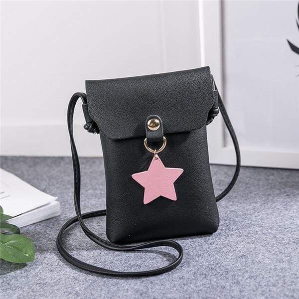 So Kawaii Shop Black Shoulder Bags The Kawaii Star Mini Messenger Bag 26424825-black-shoulder-bags
