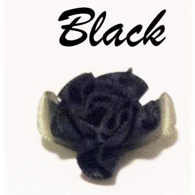 So Kawaii Shop Black w Black Flower Harajuku Kawaii Rose Spiked Choker with lead clip 3129560-black-w-black-flower