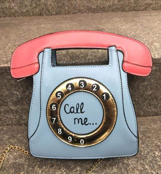So Kawaii Shop Blue / (20cm<Max Length<30cm) Kawaii Retro Phone Handbag 3113783-blue-20cm-max-length-30cm