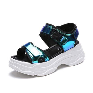 So Kawaii Shop Blue / 5.5 Kawaii Summer Platform Sandals 24796354-blue-5-5
