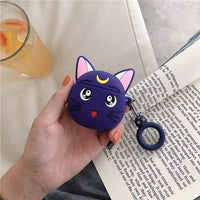 So Kawaii Shop Blue Cat Kawaii Sailor Moon/Luna Cat Cases For Apple Airpods 28067909-blue-cat