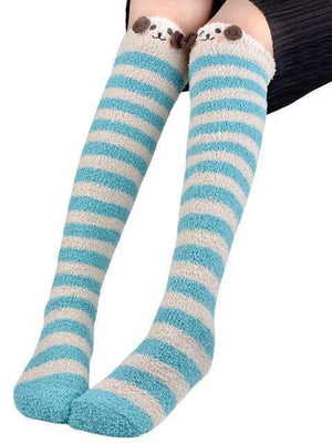 So Kawaii Shop Blue Kawaii Japanese Animal Thigh High Socks 20070242-blue