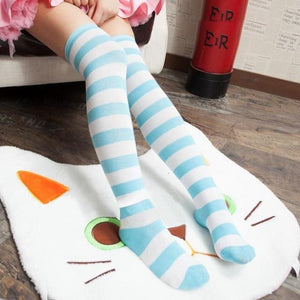 So Kawaii Shop Blue Kawaii Japanese Over the Knee Cosplay Stockings 17182397-blue