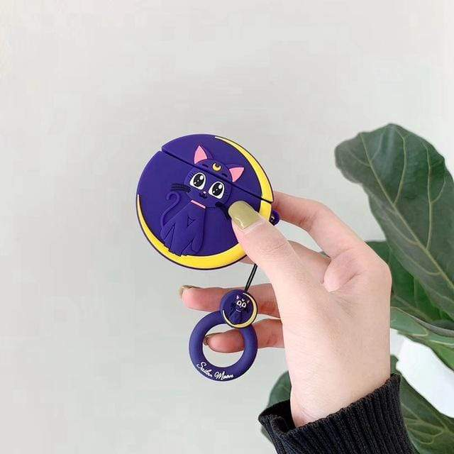 So Kawaii Shop Blue Moon Kawaii Sailor Moon/Luna Cat Cases For Apple Airpods 28067909-blue-moon