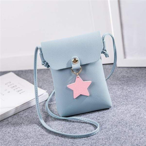 So Kawaii Shop Blue Shoulder Bags The Kawaii Star Mini Messenger Bag 26424825-blue-shoulder-bags