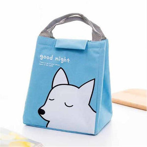 So Kawaii Shop Blue Snow Fox Kawaii Insulated Lunch Bag 26996903-blue