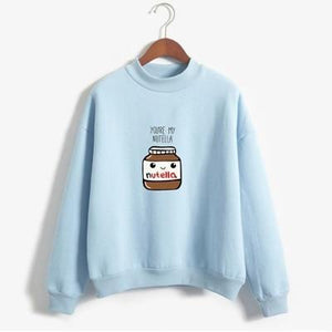 So Kawaii Shop blue / XL You Are My Nutella Kawaii Sweatshirt 16200743-blue-xl