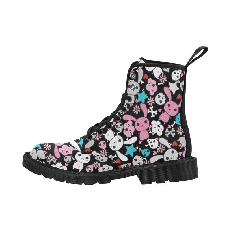 interestprint Boots The Kawaii Black & Blue Goth Bunny Boot