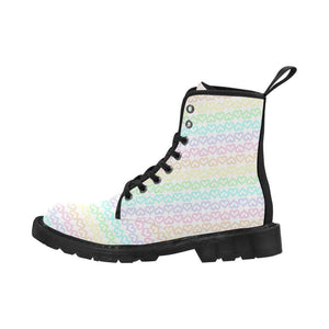 interestprint Boots The Mini Rainbow Hearts Black Boot