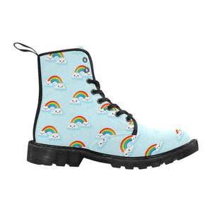interestprint Boots The Happy Kawaii Rainbows Black Martin Boot