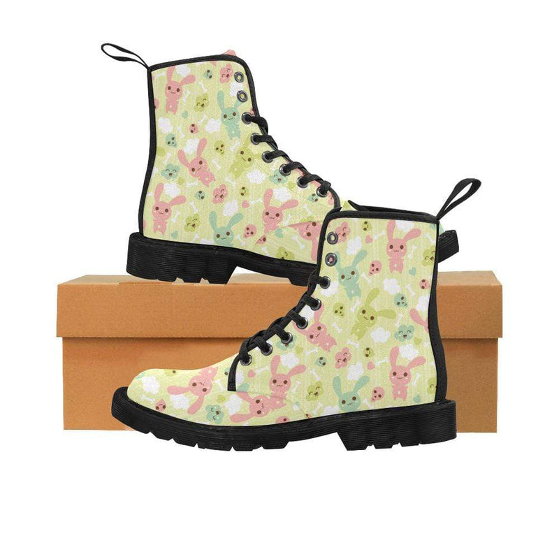 interestprint Boots The Kawaii Pastel Goth Bunny Dead Inside Black Martin Boot
