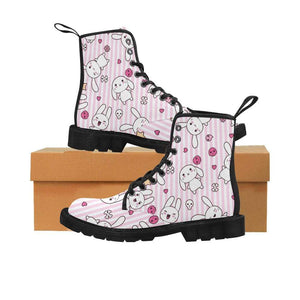 interestprint Boots The Kawaii Pastel Goth Bunny Pink Stripes Boot