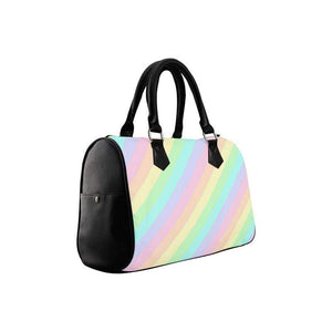 e-joyer Boston Handbags (1621) One Size The Pastel Diagonals Boston Bag D3814074