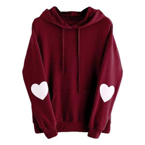 So Kawaii Shop Burgundy / XXL Kawaii Sweetheart Hoodie 24422058-burgundy-xxl