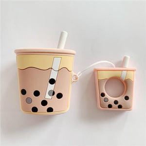 So Kawaii Shop Chai Kawaii Milk Boba Tea Headphones Case 26896185-as-show