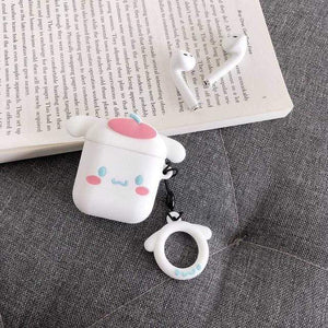 So Kawaii Shop Cinnamoroll with Ring For AirPods Case Cute Cinnamoroll Melody Kuromi Purin Frog Earphone Cases For Apple Airpods Protect Cover with Cartoon Pendant 26675363-b-cinnamoroll