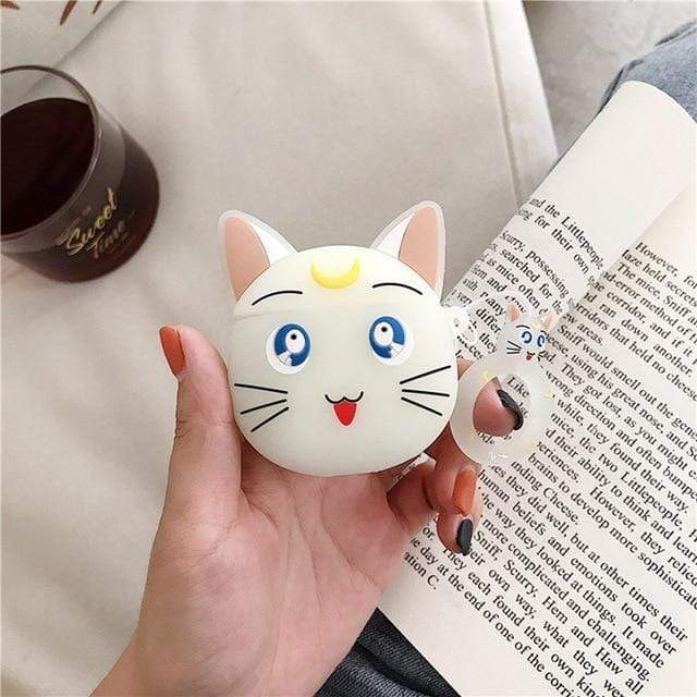 So Kawaii Shop Clear Cat Kawaii Sailor Moon/Luna Cat Cases For Apple Airpods 28067909-clear-cat