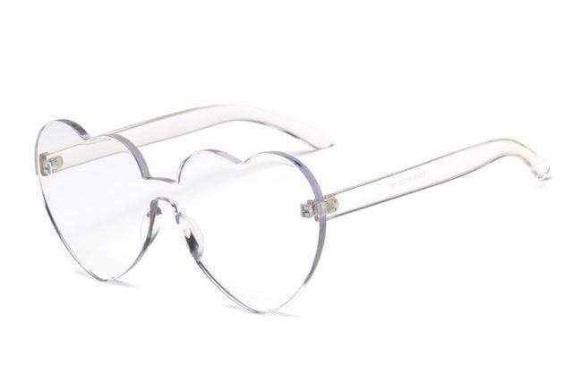 So Kawaii Shop Clear Kawaii Candy Love Heart Sunglasses 18970771-clear