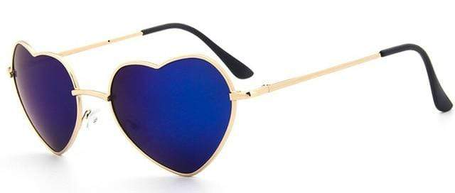 So Kawaii Shop cobalt Oversized Heart Sunglasses FREE SHIPPING! 20139639-c9