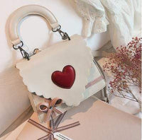 So Kawaii Shop CREAM Kawaii Red Heart Elegant Handbag 20424592-cream