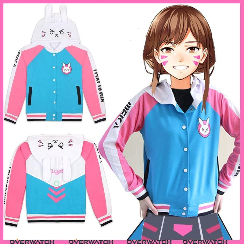 So Kawaii Shop D.VA Cosplay Cotton Hoodies 2 styles Up to Plus Sizes!