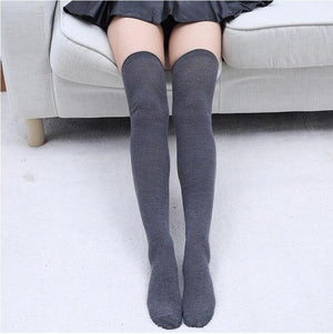 So Kawaii Shop dark grey Kawaii Stripe Thigh High Stockings 24508788-dark-grey