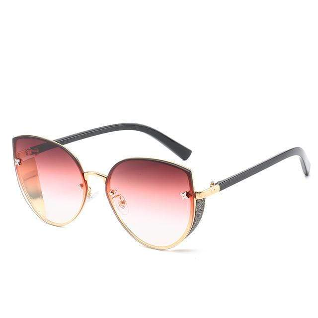 So Kawaii Shop dusty rose The Cute Vintage Cat Eye Sunglasses 24657442-5