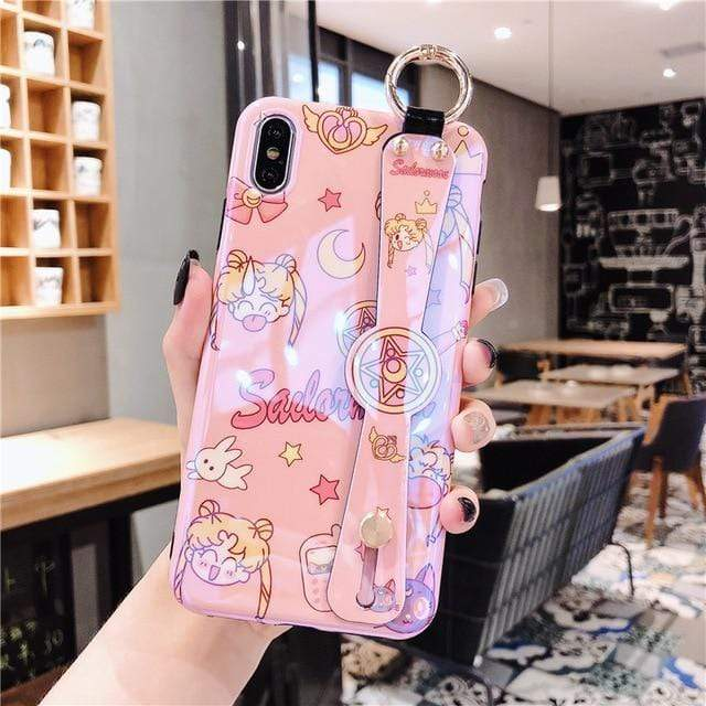 So Kawaii Shop For iPhone X XS / Red Sailor Moon & Sakura CardCaptor Cases for iPhone 27702605-for-iphone-x-xs-red