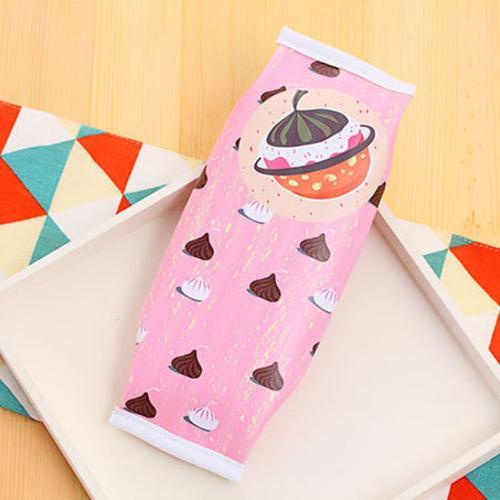 Salmon Sooty pencil case chocolate   A Kawaii Macaron Pencil Bag CHOCOLATEA