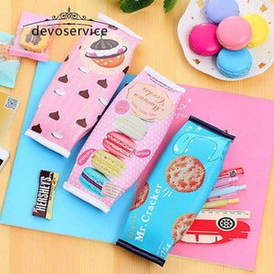 Salmon Sooty pencil case Kawaii Macaron Pencil Bag