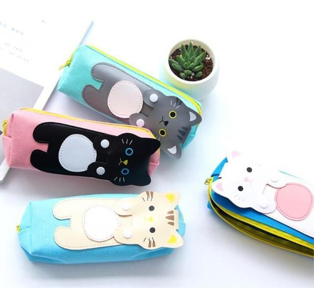 Salmon Sooty Gifts Pencil Case Pencil Bag Kawaii Cats