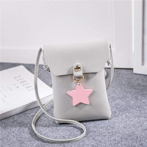 So Kawaii Shop Gray Shoulder Bags The Kawaii Star Mini Messenger Bag 26424825-gray-shoulder-bags