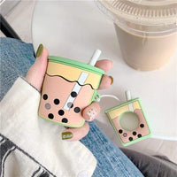 So Kawaii Shop Green Kawaii Milk Boba Tea Headphones Case 26896185-as-show-3