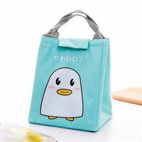 So Kawaii Shop Green Penguin Kawaii Insulated Lunch Bag 26996903-green