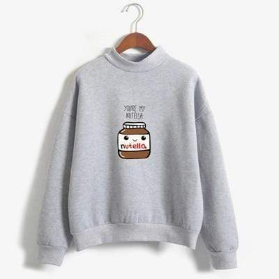 So Kawaii Shop grey / XL You Are My Nutella Kawaii Sweatshirt 16200743-grey-xl