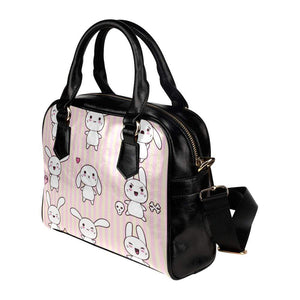 interestprint handbags One Size The Kawaii Goth Bunny Pink Stripe Bag D1318269