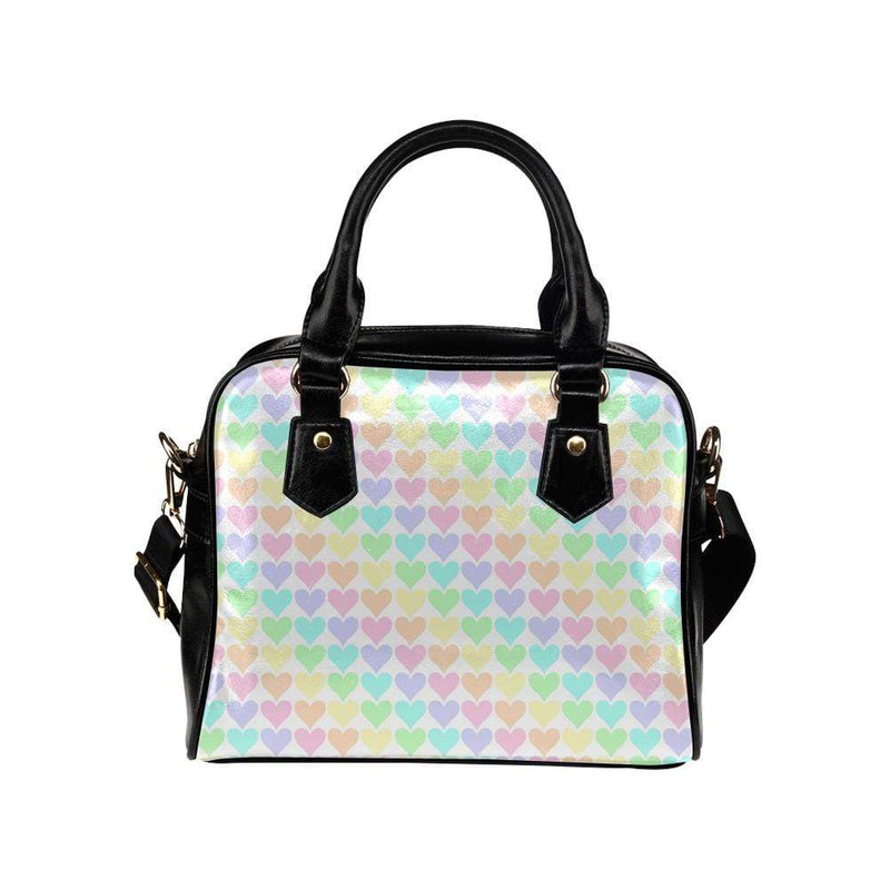 interestprint handbags One Size The Kawaii Pastel Hearts Shoulder Bag Shoulder Handbag (Model 1634) D1317668